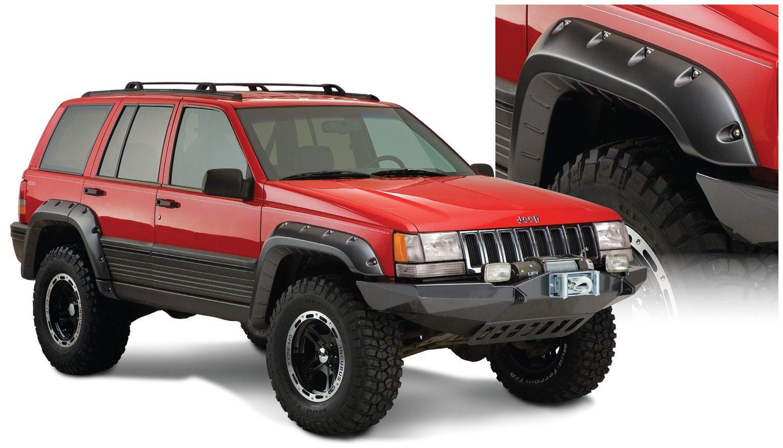 jeep grand cherokee zj bushwacker cut out fender flares. Black Bedroom Furniture Sets. Home Design Ideas
